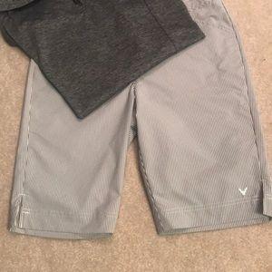Callaway  golf shorts- black and white stripes.